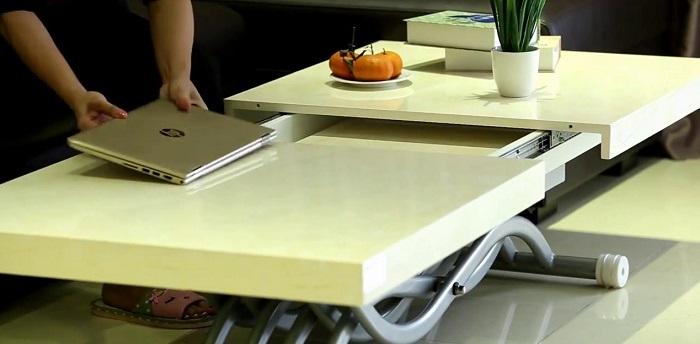 5 cực phẩm bàn trà thông minh kết hợp bàn ăn-3