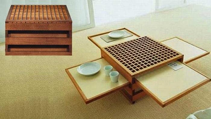 5 cực phẩm bàn trà thông minh kết hợp bàn ăn-6