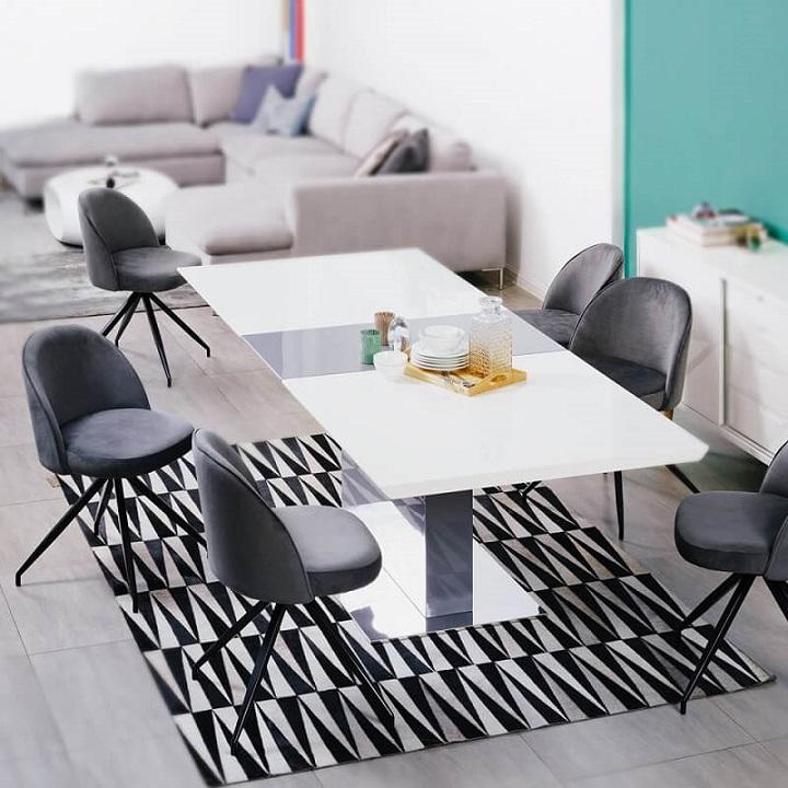bàn ăn kéo dài gấp 3 lần tiện lợi không tưởng