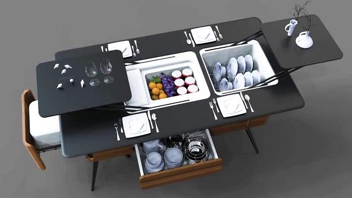 Gợi ý những mẫu bàn ăn cỡ nhỏ cho gia đình ít người