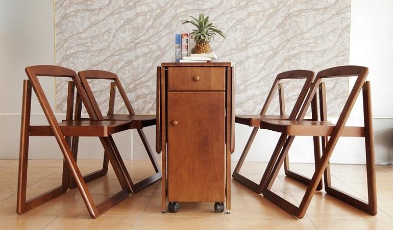 Bộ bàn ăn thông minh gỗ công nghiệp