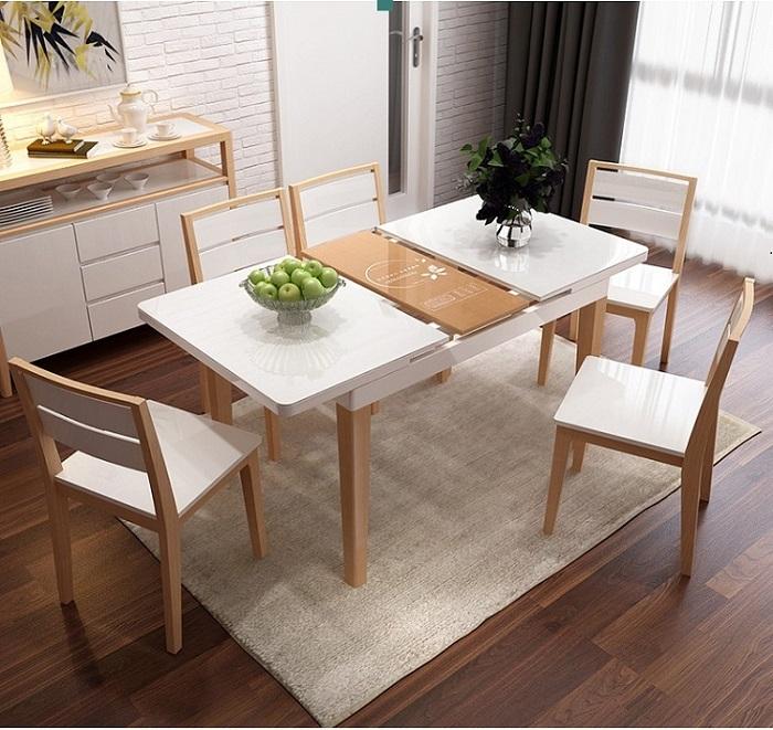 Mẫu bàn ăn thông minh tiện nghi cho nhà đón khách