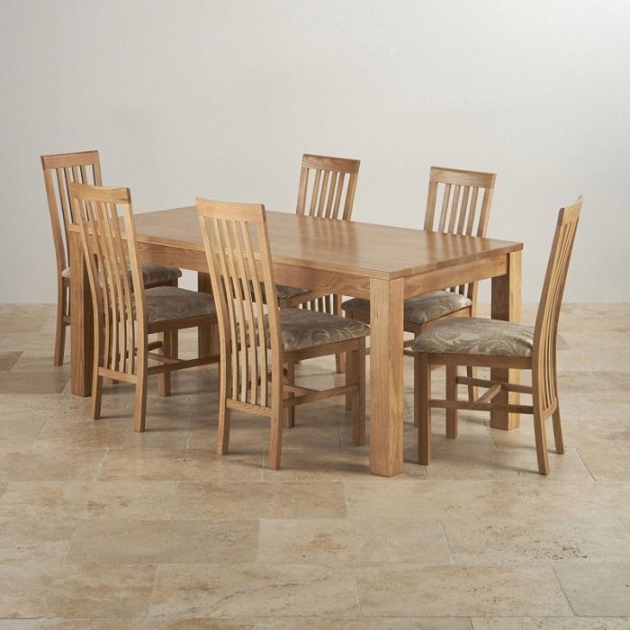 Bộ bàn ăn 6 ghế gỗ sồi giá bao nhiêu?-4