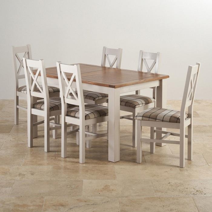 Bộ bàn ăn 6 ghế gỗ sồi giá bao nhiêu?-5