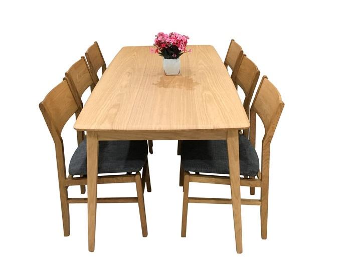 Bộ bàn ăn 6 ghế gỗ sồi giá bao nhiêu?-6