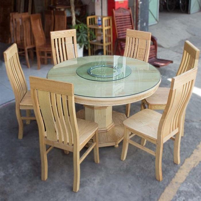 Bộ bàn ăn 6 ghế gỗ sồi giá bao nhiêu?-9