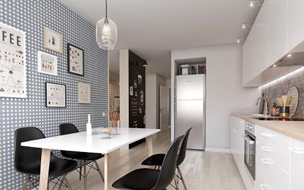 Cách bố trí bàn ăn trong bếp cho không gian chật hẹp-3