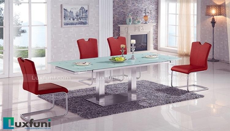 Review bộ bàn ăn thông minh mặt kính T735-1