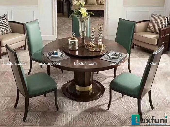 Tổng hợp các mẫu bàn ăn tròn bằng gỗ xinh xắn và tiện lợi-3
