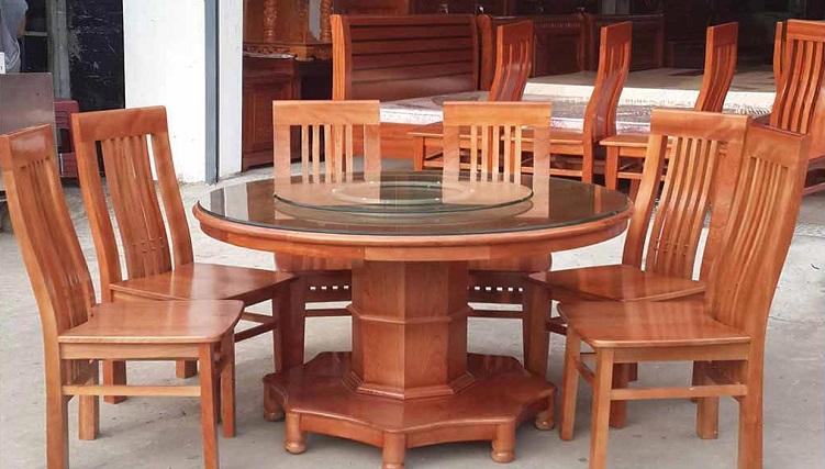 Tổng hợp các mẫu bàn ăn tròn bằng gỗ xinh xắn và tiện lợi-6