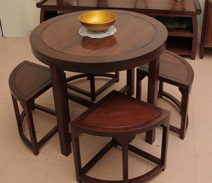 Tổng hợp những mẫu bàn ăn tròn gỗ sồi bán chạy nhất-8