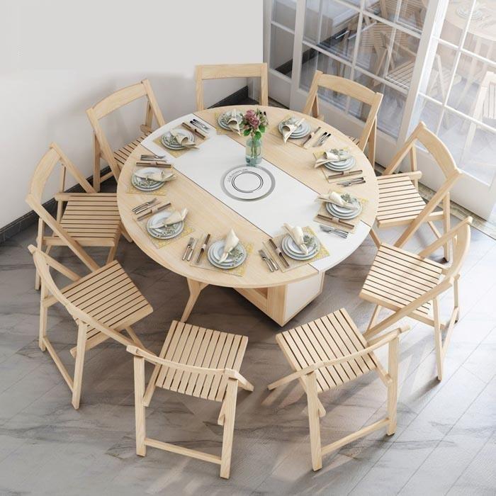 Tổng hợp những mẫu bàn ăn tròn gỗ sồi bán chạy nhất-9