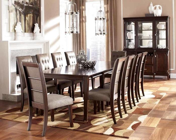 Tròn mắt với những mẫu bàn ăn đẹp 10 ghế-13