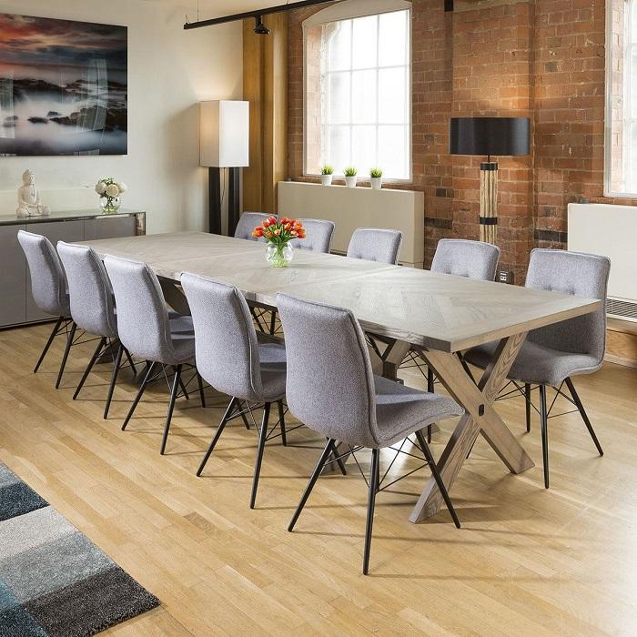 Tròn mắt với những mẫu bàn ăn đẹp 10 ghế-2