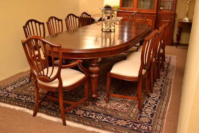 Tròn mắt với những mẫu bàn ăn đẹp 10 ghế-3