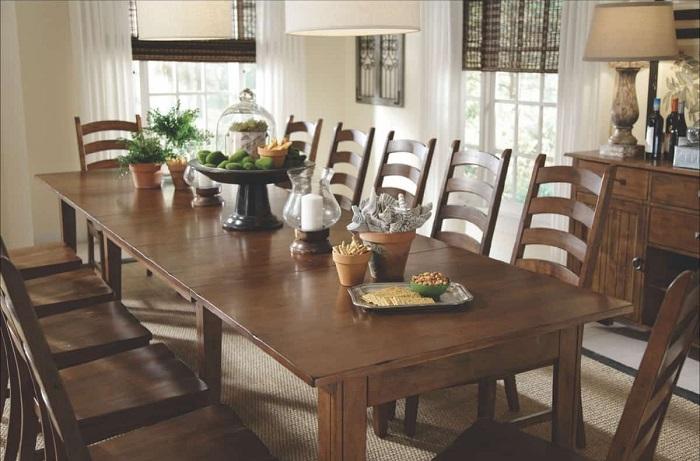 Tròn mắt với những mẫu bàn ăn đẹp 10 ghế-4