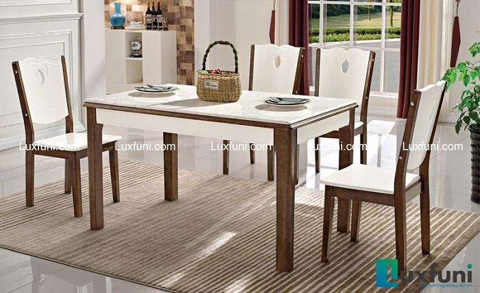 6 bộ bàn ăn 4 ghế mặt đá giá rẻ, chất lượng tốt-4