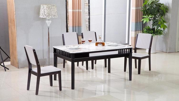 6 bộ bàn ăn 4 ghế mặt đá giá rẻ, chất lượng tốt-7