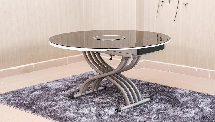 Những mẫu bàn ăn mặt kính tuyệt đẹp cho không gian bếp hiện đại-6
