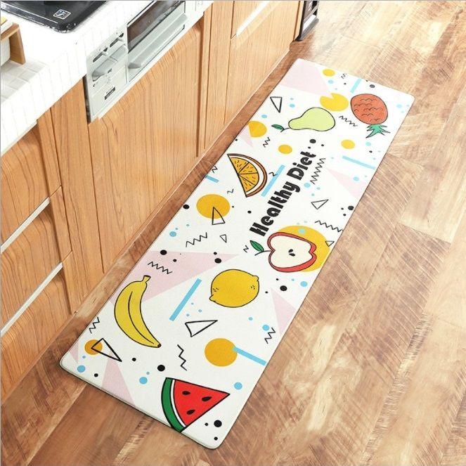 Thảm nhà bếp hình chữ nhật họa tiết hoa quả