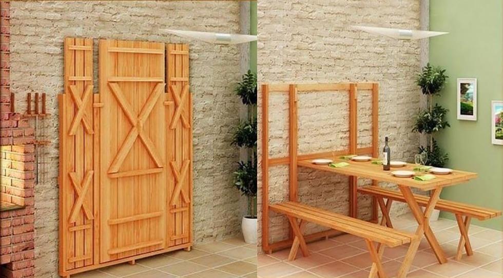 Thiết kế gắn tường kết hợp với cơ chế gấp và mở tiện dụng giúp bạn tiết kiệm không gian sống đáng kể.