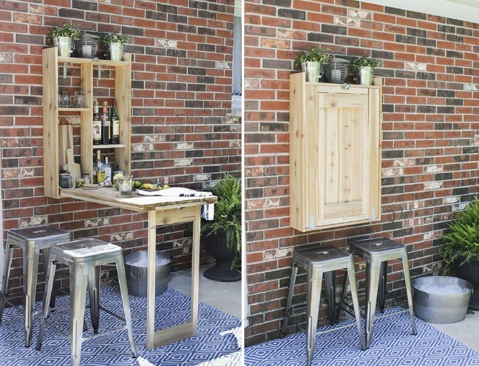 để tiết kiệm tối đa diện tích không gian bếp thì việc sử dụng bàn ăn gắn tường là sự lựa chọn hoàn hảo.