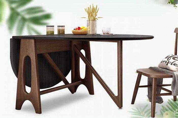 Bộ bàn ăn gấp gọn gỗ dụ đa năng
