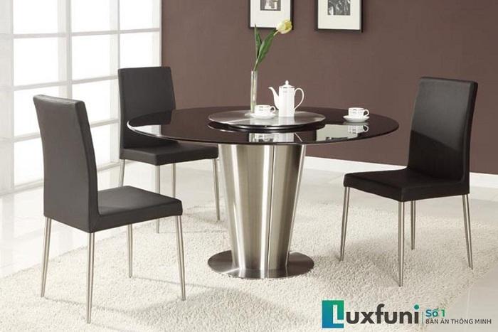 mẫu bàn ăn đẹp bằng đá đen