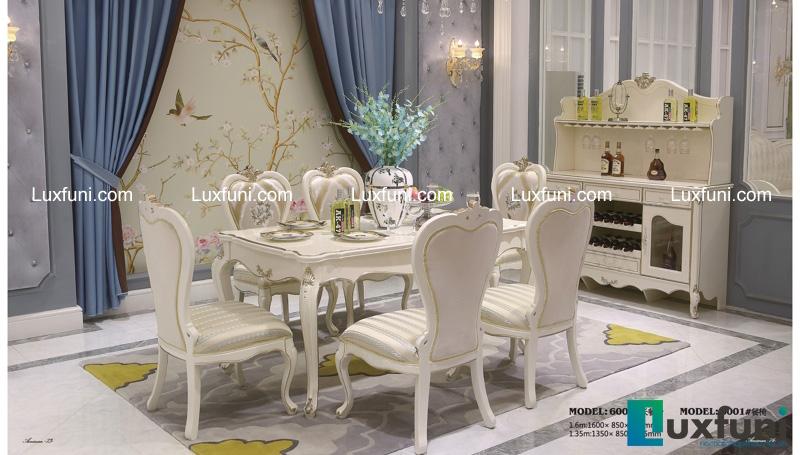 10 bộ bàn ăn 6 ghế gỗ tự nhiên đẹp giá rẻ -20%