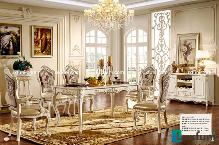 10 bộ bàn ăn 6 ghế gỗ tự nhiên đẹp giá rẻ -20%-6