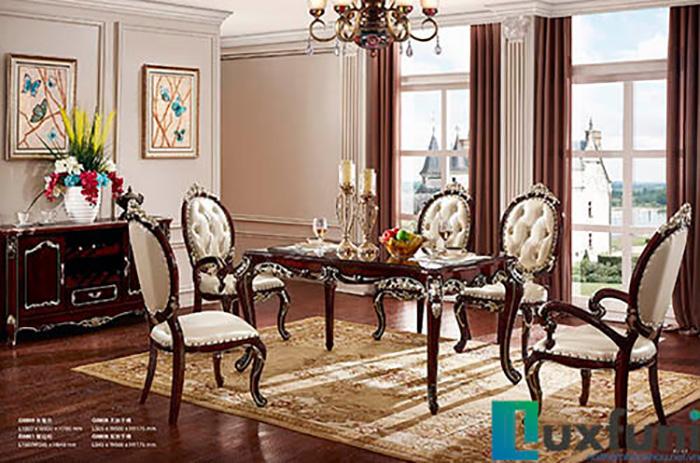 10 bộ bàn ăn 6 ghế gỗ tự nhiên đẹp giá rẻ -20%-7