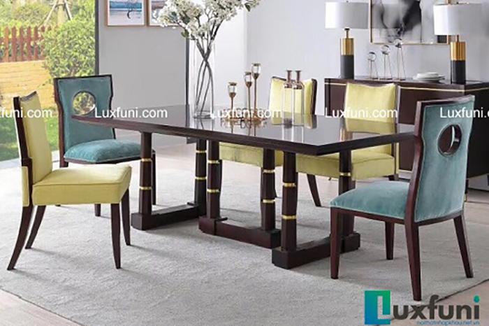 10 bộ bàn ăn 6 ghế gỗ tự nhiên đẹp giá rẻ -20%-9