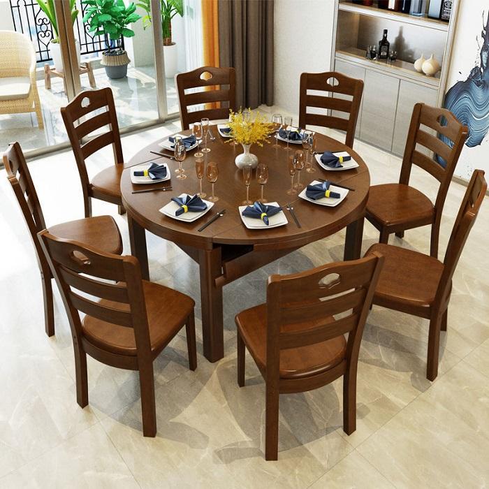 Bàn ăn tròn 8 ghế