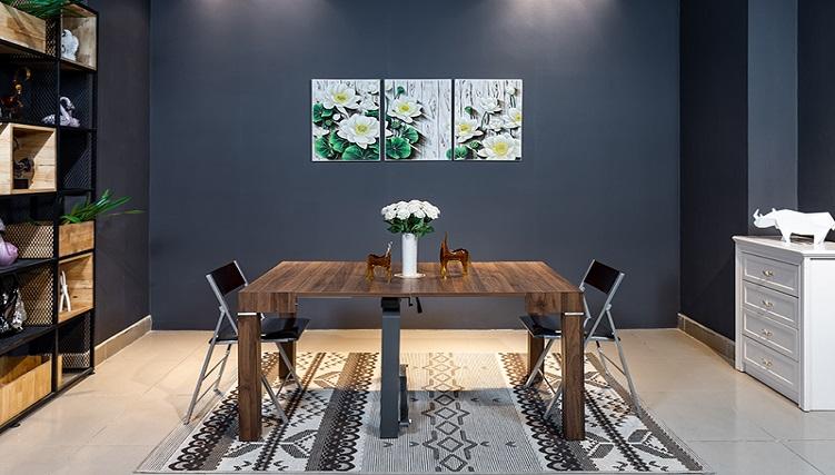 Những mẫu bàn ghế ăn đẹp siêu tiết kiệm diện tích