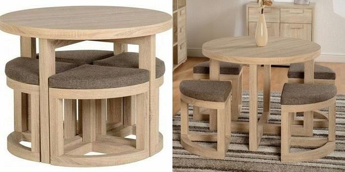 Bộ bàn ăn tròn thông minh