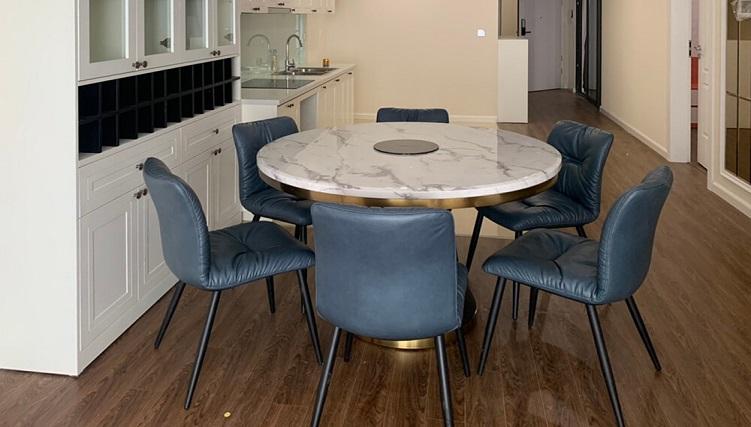 Bộ bàn ăn tròn 6 ghế giá rẻ
